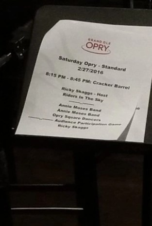 set list grand ole opry