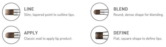 CAILYN COSMETICS 4 IN 1 LIP BRUSH TIPS