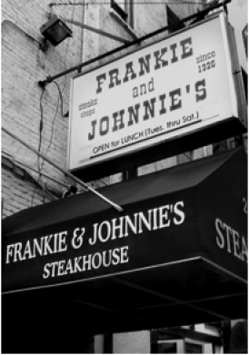 former frankie and johnnies steakhouse