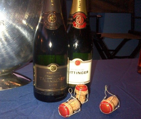 Tattinger Champagne bottles