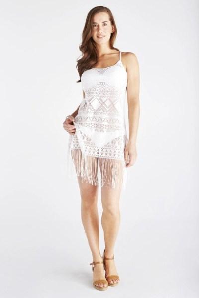 fringed slip dress