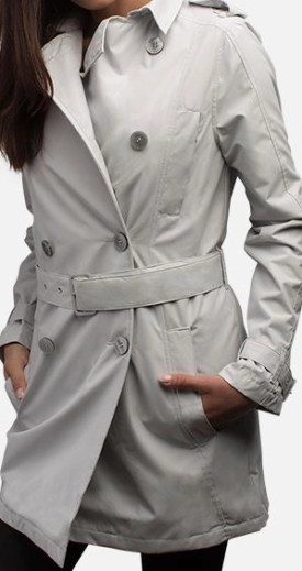 "SeV Women's Trench Coat by SCOTTeVEST in ""mist"""