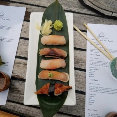 sushi and sake on the Morimoto sushi and sake cruise