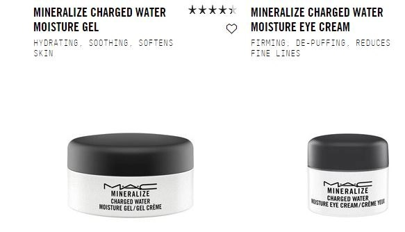 charged water moisture gel and eye creme