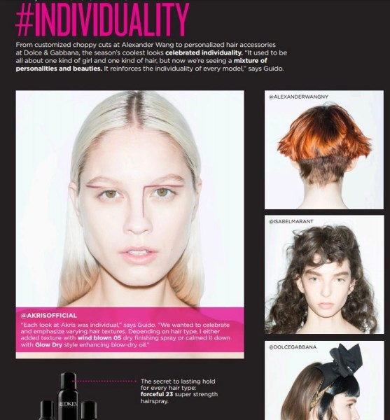 redken fall hair trends individuality 2016