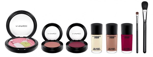 MAC Cosmetics Its a Strike Makeup Collection blush, powder, nail polish, brushes