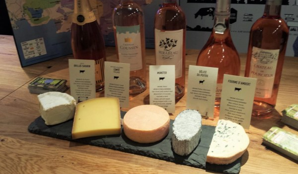 french cheese board and rose tasting event