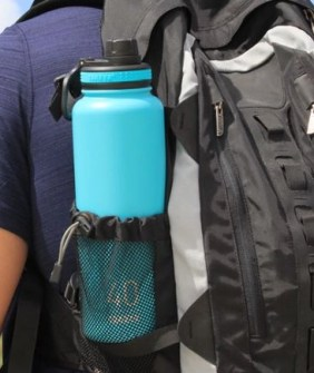 Takeya 40 oz thermoflask in a backpack