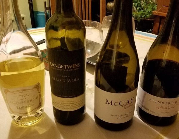 four wines from lodi california