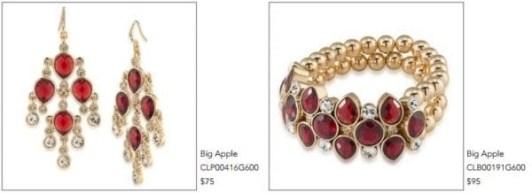 carolee-big-apple-bracelet-and-earrings