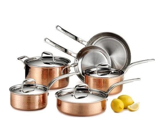 Lagostina Copper Cookware set