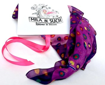 mila-and-such-scarf makes a good gift for a girl boss