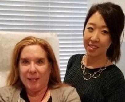 with Jessica Kim prior to Hydra Facial Treattment