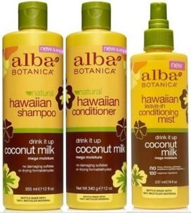 alba-botanica-hawacaiin-coconut-milk-collection for dry hair