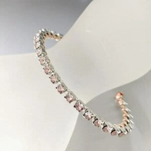 lexi butler stackable wire wrapped rhinestone bracelet1