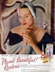 vintage revlon cosmetics ad