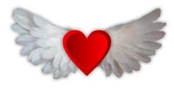 true love winged heart