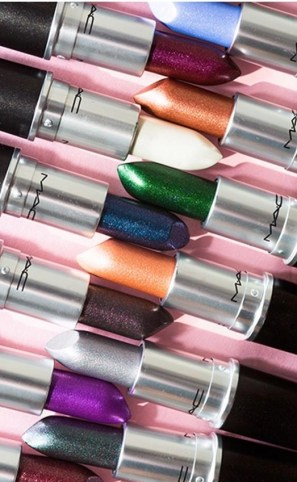 mac metallic lips collection poster