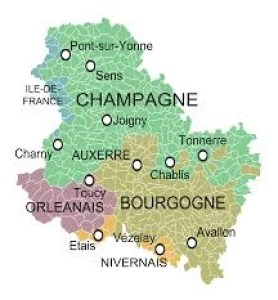 map of chablis
