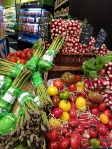 vegetables in a paris Monoprix