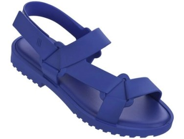 melissa sandal in connected blue