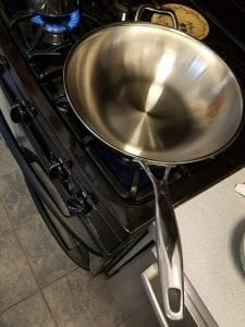 my pan is ready for stir fry!