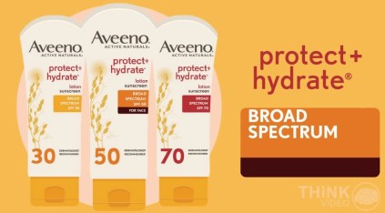 aveeno protect and hydrate SPF 30,50,70