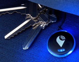 attach with Trackr Pixel with a keyfob/lanyard or with an adhesive Dot