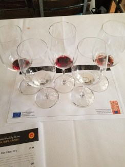 grenache wine tasting glasses