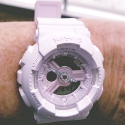 baby g shock light pink watch