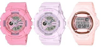 pink bouquet collection baby G watches