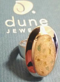 dune jewelry ring on box