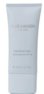 Blue Lagoon Dydrating Cream Broad Spectrum SPF 30 – formulated with the Blue Lagoon's unique, mineral-rich geothermal seawater – protects and moisturizes, giving your skin renewed vitality and comfort. Instructions: Apply to face and neck every morning. Suitable for normal to dry skin. Dermatologically tested Paraben free Color free Fragrance free