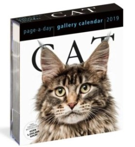 page a day cat calendar for 2019 by workman publishing stock photo
