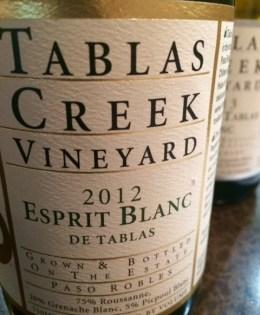 2012 Tablas Creek Vineyard Esprit Blanc de Tablas