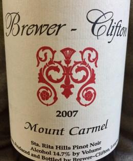 2007 Brewer-Clifton Mount Carmel Pinot Noir