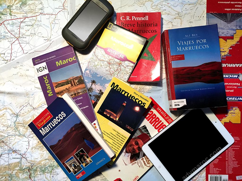 Algunos mapas, libros y guias de marruecos, ideales para tomar ideas a la hora de preparar nuestro viaje.