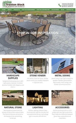 New Website Launch: Trenton Block & Hardscape Supply