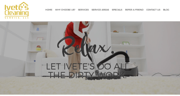 Adventure Web Interactive is excited to announce our latest website redesign of our long-standing client Ivete's Cleaning Service!