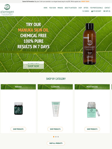 New Website Launch: Plantogen Professional Skin Care Treatment