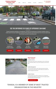New Website Launch: Teniseal Parking Striping Corp.