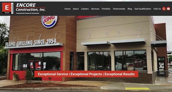 Website Launch: Encore Construction