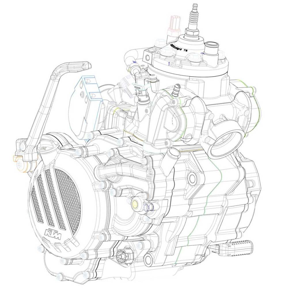medium resolution of diagram of ktms newly developed 2 stroke fuel injection engine