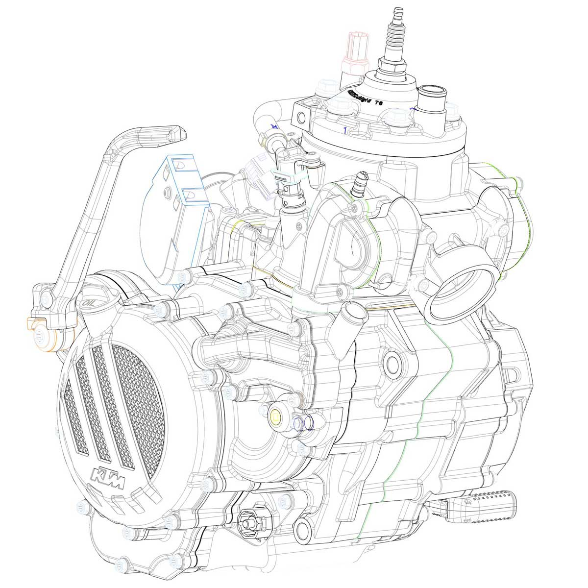 hight resolution of diagram of ktms newly developed 2 stroke fuel injection engine