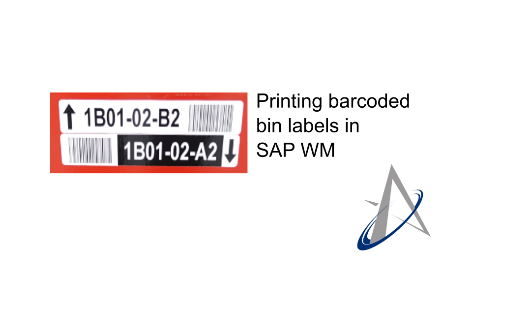 Printing barcoded bin labels in SAP WM
