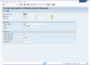 Printing barcoded bin labels in SAP WM | Advanced Solutions