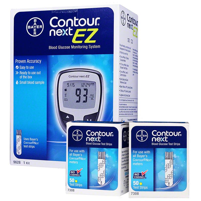 Free Contour NEXT EZ Glucose Meter Kit w/Purchase of 100 ...