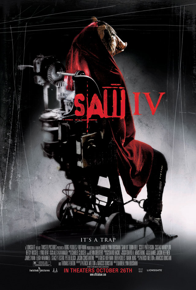 Advertising posters for the Saw movie franchise 20042010  Adweek