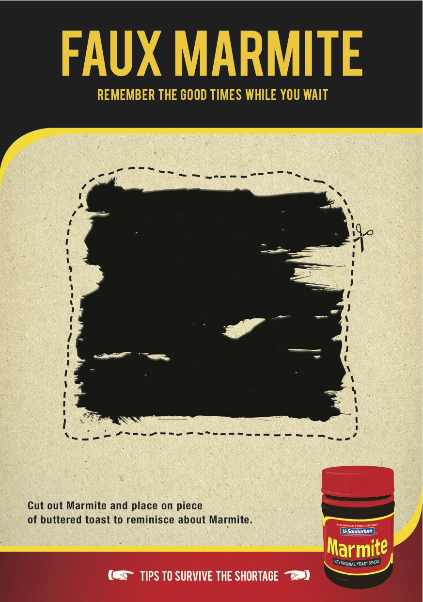 Print Ads Capture Anger and Panic in Wake of Marmite Shortage  Adweek