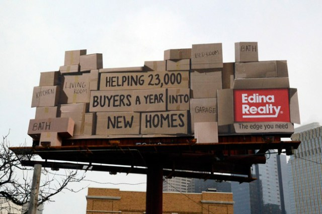 Creative real estate billboard